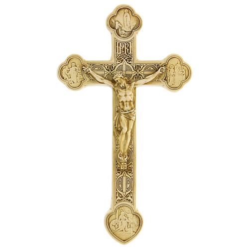 Crocefisso di Lourdes pietra color avorio Bethléem 25x15 cm 1