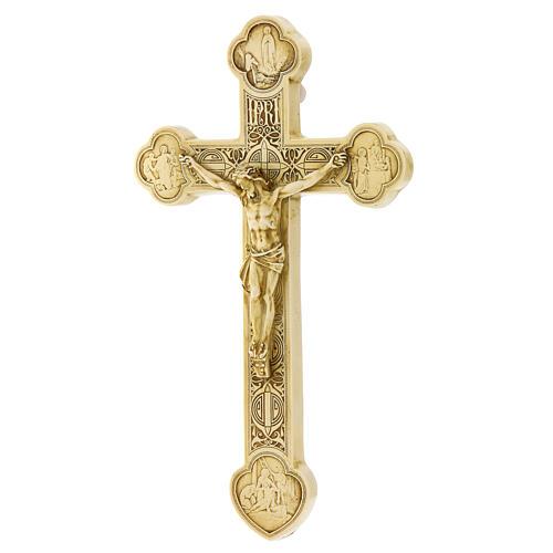 Crocefisso di Lourdes pietra color avorio Bethléem 25x15 cm 3