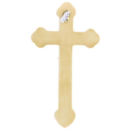 Crocefisso di Lourdes pietra color avorio Bethléem 25x15 cm 5