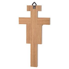 Crocefisso legno di rovere corpo dorato 20 cm s6