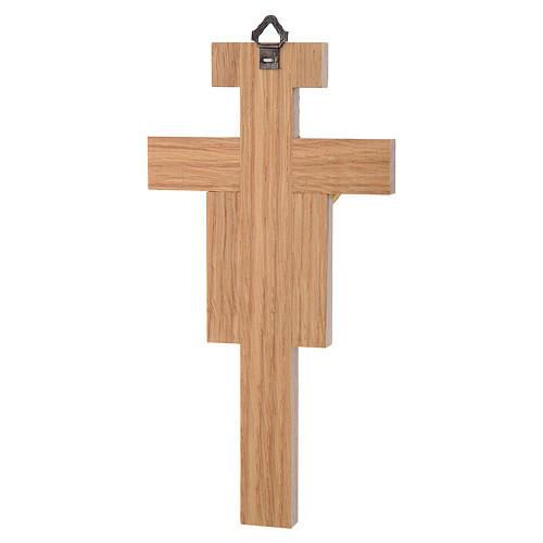Crocefisso legno di rovere corpo dorato 20 cm 6
