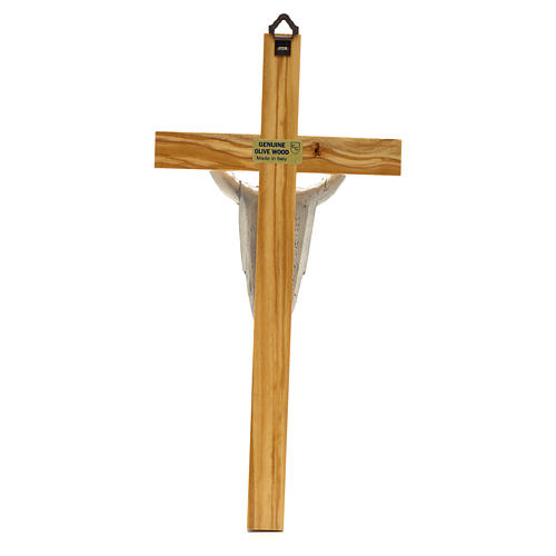 Crucifix in olive wood, Resurrected Christ 2