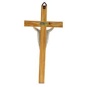 Crucifix bois d'olivier, Christ ressuscité s2