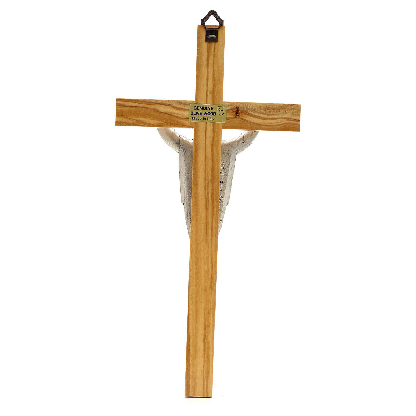 Crucifix in olive wood, Resurrected Christ 4