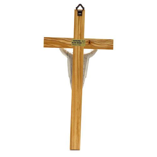 Crucifix in olive wood, Resurrected Christ 2