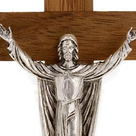 Christ ressuscité croix bois noyer s2