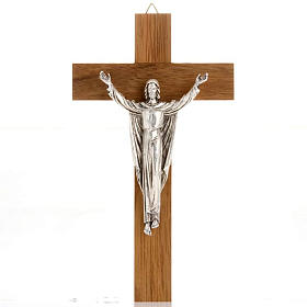 Resurrected Christ, walnut wood cross s1