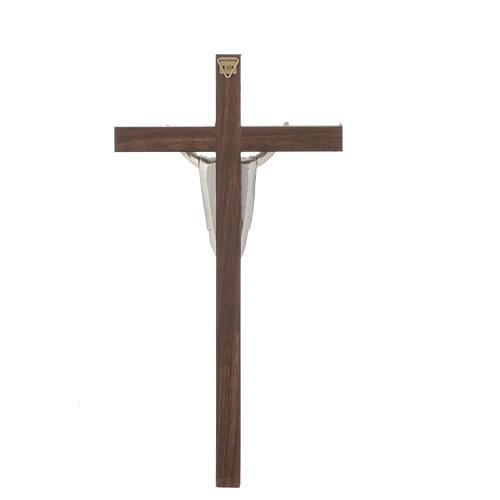 Cristo resucitado, cruz madera de nogal delgado 3