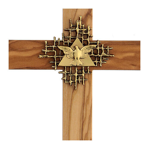 Holy Spirit cross in Olive wood 2