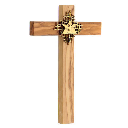 Holy Spirit cross in Olive wood 3