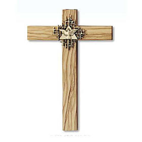 Holy Spirit cross in Olive wood s1
