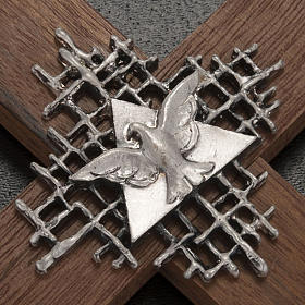 Cross in walnut wood with Father and Holy Spirit s2