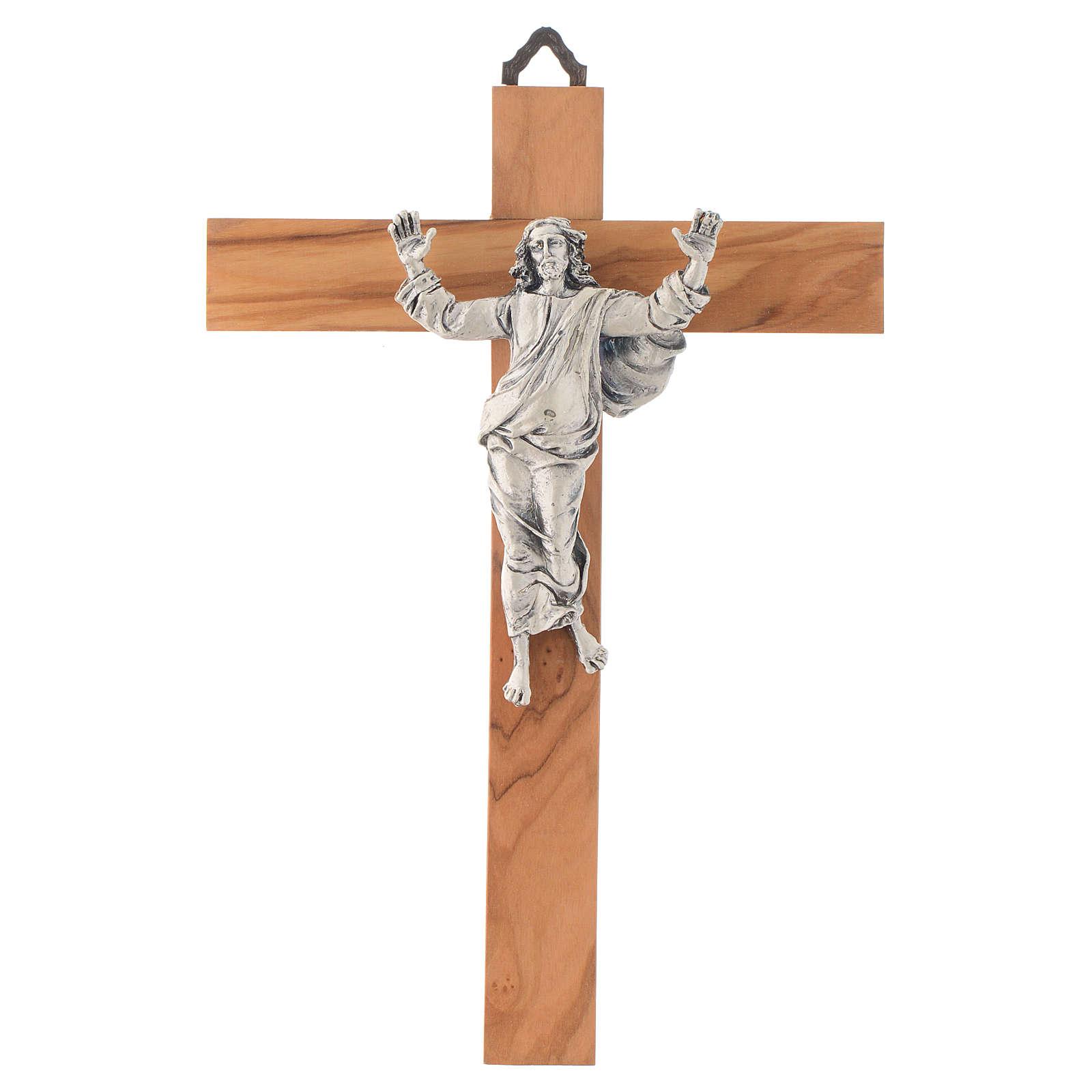 Christ ressuscité croix en bois d'olivier 4