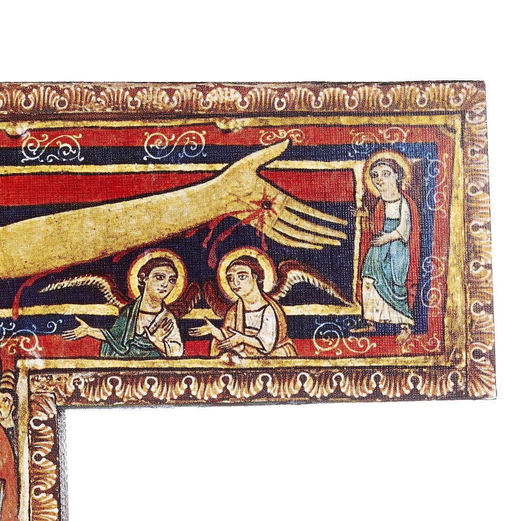 Crucifijo de madera San Damian diferentes tamaños 4