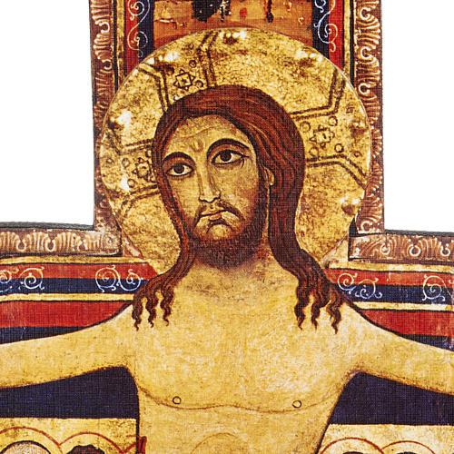 Crucifijo de madera San Damian diferentes tamaños 5