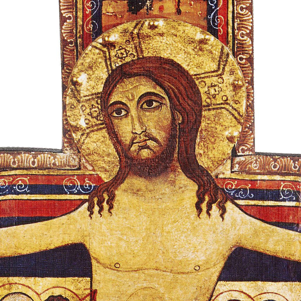 Crucifix bois St Damien différentes tailles 4