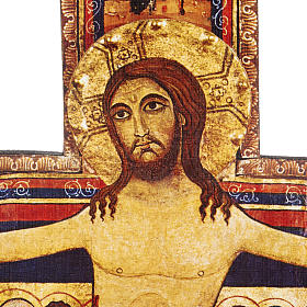 Crucifix bois St Damien différentes tailles s5