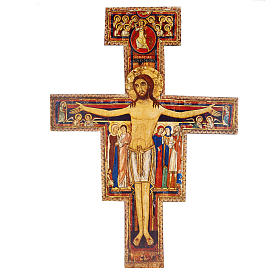 Crucifixo madeira São Damião tamanhos diferentes s1