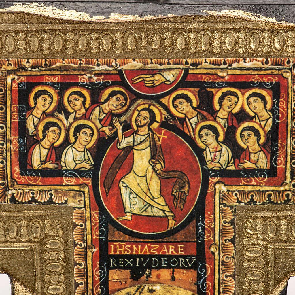 Crocifisso San Damiano legno bordo irregolare 4