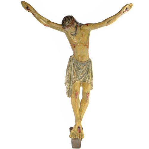 Corpo di Cristo romanico 100 cm pasta di legno dec. anticata 1