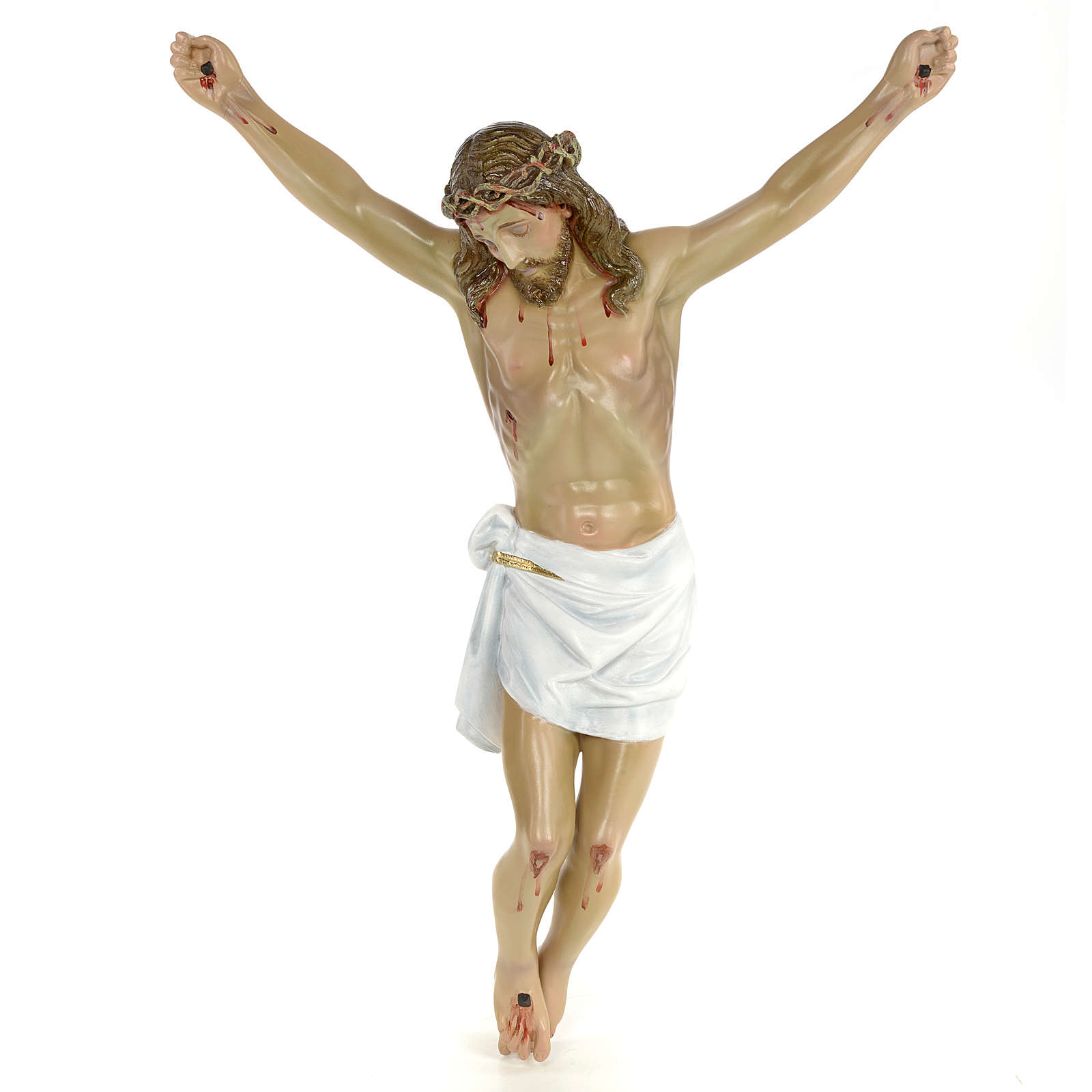 Body of Christ, 50cm in wood paste with elegant decorations 4