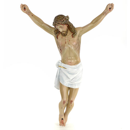 Body of Christ, 50cm in wood paste with elegant decorations 1