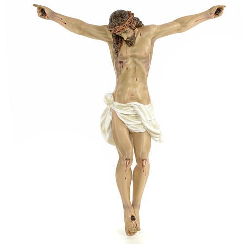 Corpo di Cristo morto 60 cm pasta di legno dec. elegante 1