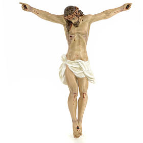 Body of Christ, 60cm in wood paste with elegant decorations s1