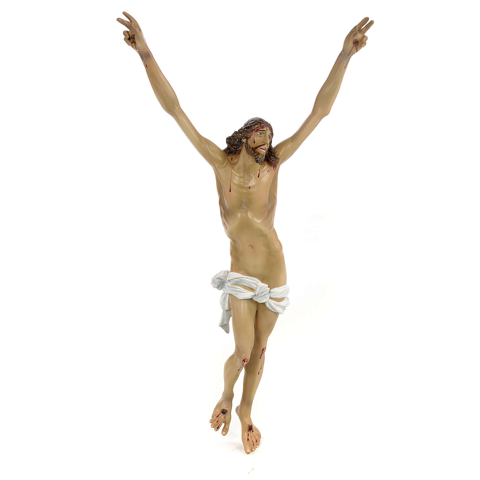 Body of Christ, Agony, 35cm in wood paste with elegant decoratio 4