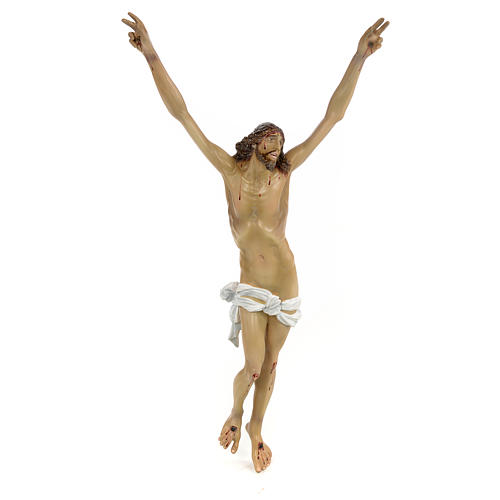 Body of Christ, Agony, 35cm in wood paste with elegant decoratio 1