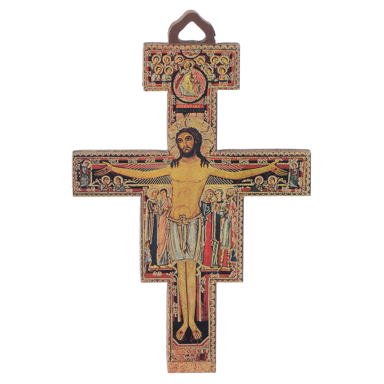 Crucifix in wood San Damiano 8 cm 4