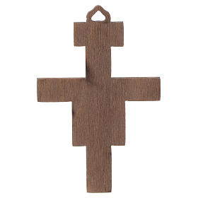 Crucifix in wood San Damiano 8 cm s2