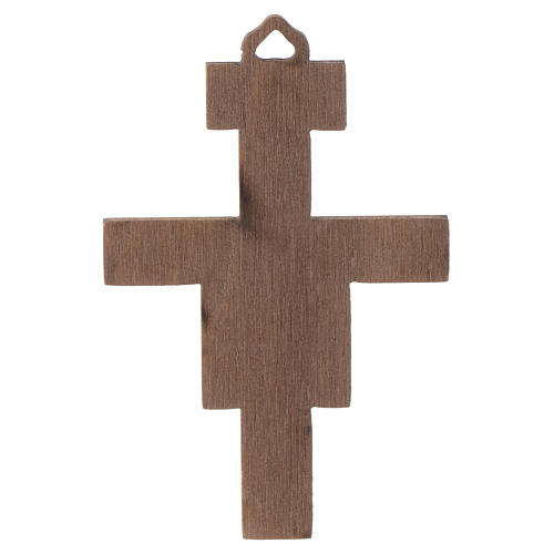 Crucifix in wood San Damiano 8 cm 2