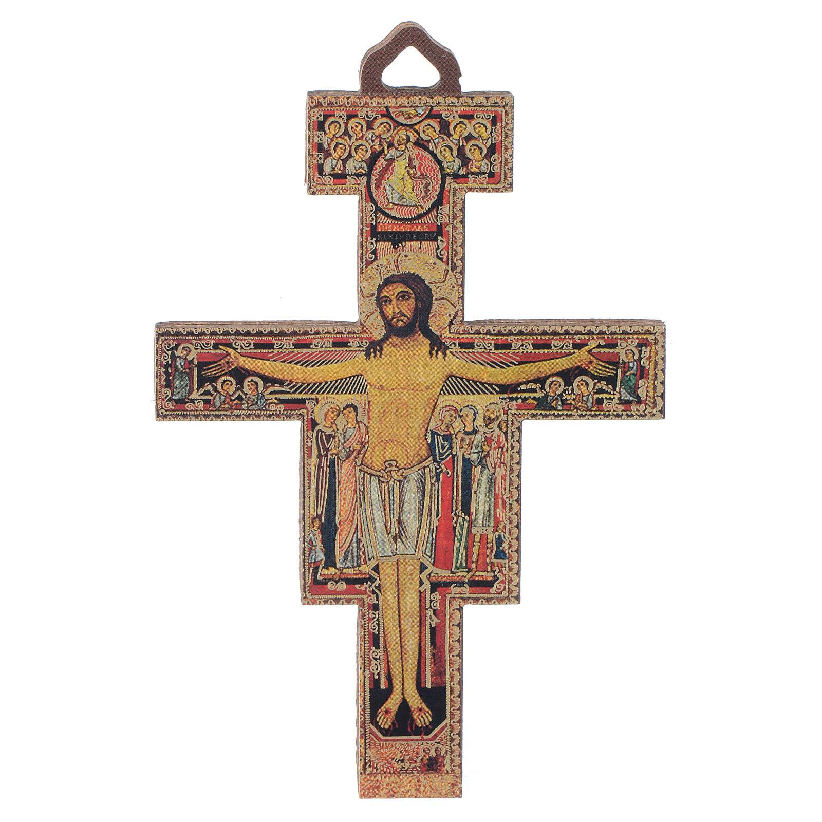 Crucifijo madera San Damiá 8 cm 4