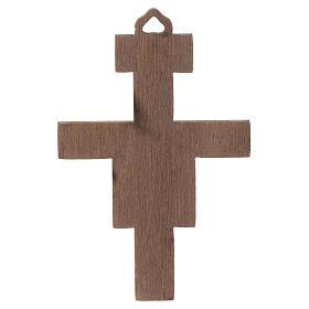 Crucifix St Damien en bois 8cm s2