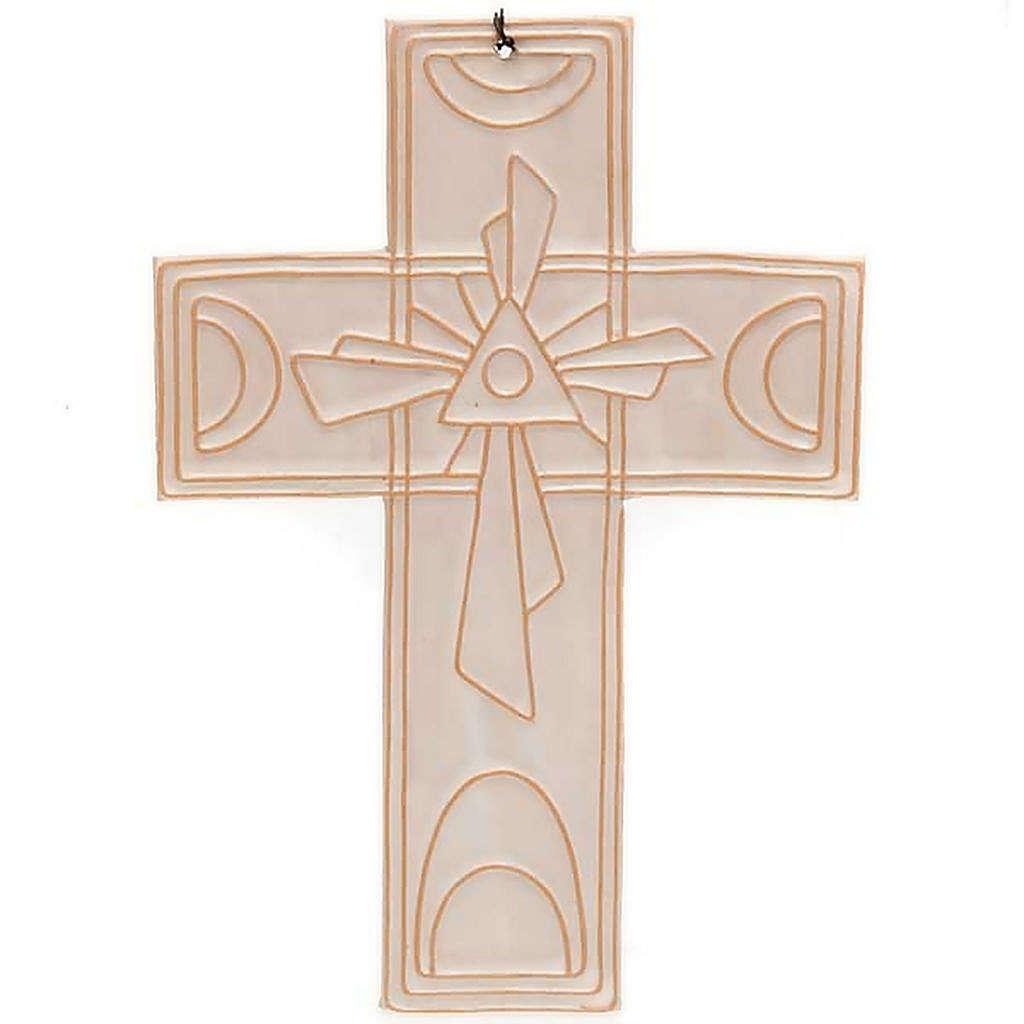 Croce da muro ceramica Trinità 4