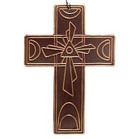 Croce da muro ceramica Trinità s2