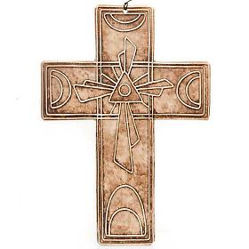 Croce da muro ceramica Trinità s4