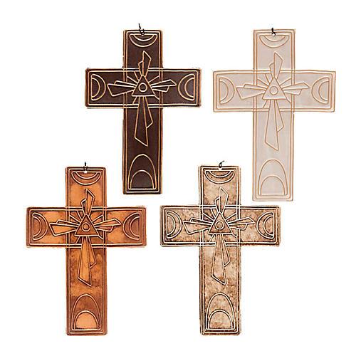 Croce da muro ceramica Trinità 1