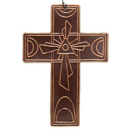 Croce da muro ceramica Trinità 2
