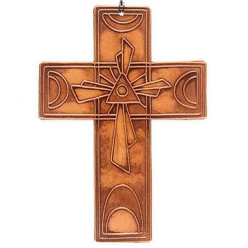 Croce da muro ceramica Trinità 5
