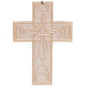 croix murale en céramique, petite taille s3