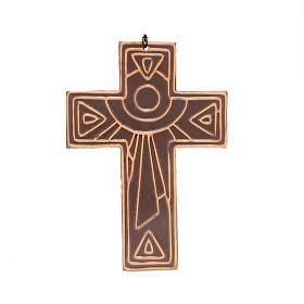 Croce da muro ceramica sole s2