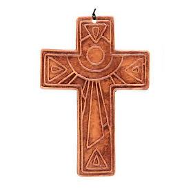 Croce da muro ceramica sole s5