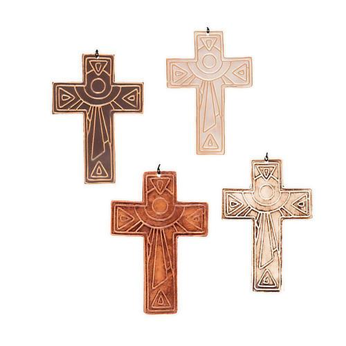 Croce da muro ceramica sole 1