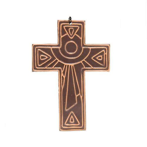 Croce da muro ceramica sole 2