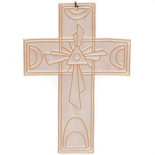 Croce da muro ceramica sole 3