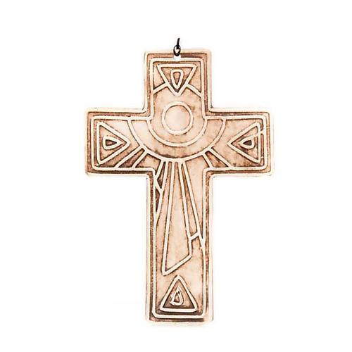 Croce da muro ceramica sole 4