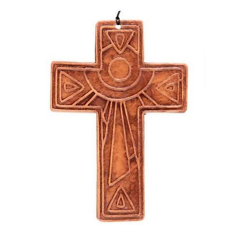 Croce da muro ceramica sole 5