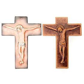 Croix murale en céramique 27cm s1